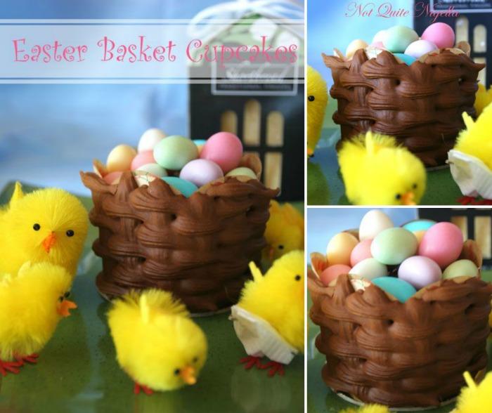 Not Quite Nigella - Easter basket cupcakes