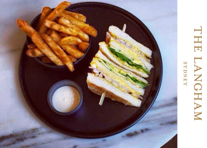 The Langham's club sandwich - via The Langham's Facebook page