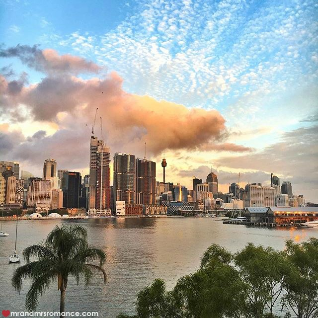 Mr & Mrs Romance - Insta Diary - 2a sunset over Sydney