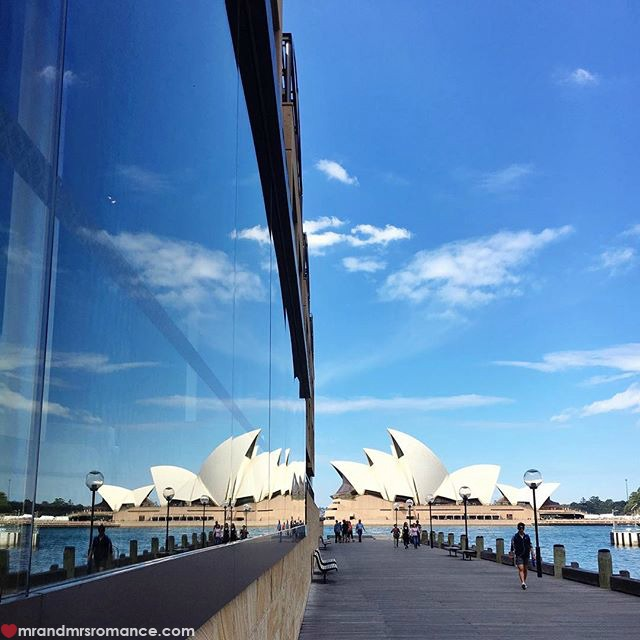 Mr & Mrs Romance - Insta Diary - 2c reflection of Opera House