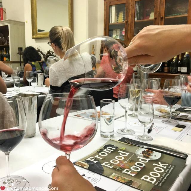 Mr & Mrs Romance - Instagram Diary - 2 wine glass masterclass