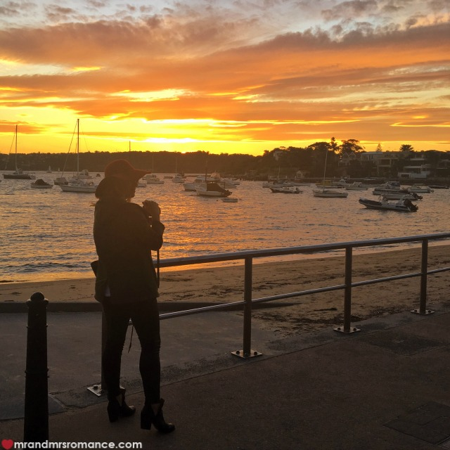 Mr & Mrs Romance - Insta Diary - 3a Mrs R at sunset