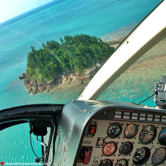 Mr & Mrs Romance - Instagram Diary - 52 flying over Hayman Island