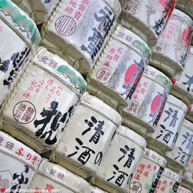 Mr & Mrs Romance - Insta Diary - 54 Japanese sake barrels