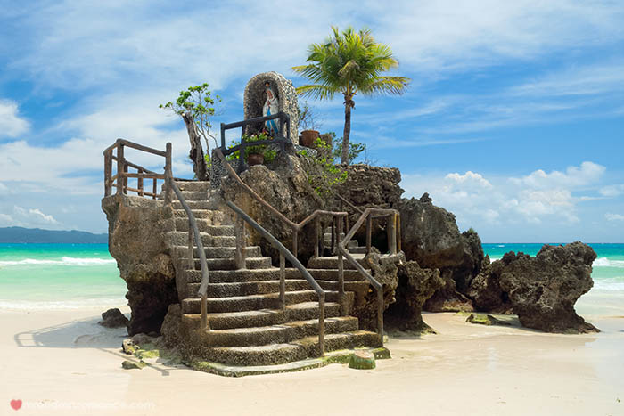 Boracay Island, Philippines - Willys Rock, situated on the famou