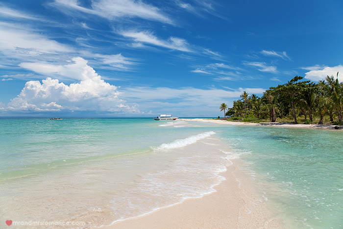 Beautiful beach on Bantayan island, Philippines