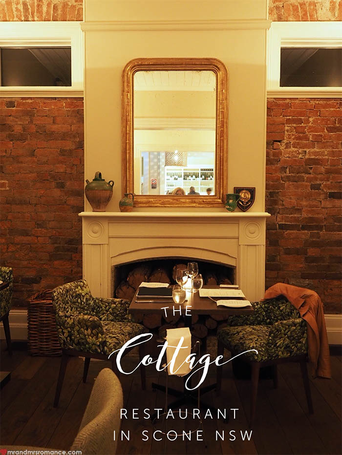 Mr and Mrs Romance - The Cottage Restaurant in Scone NSW