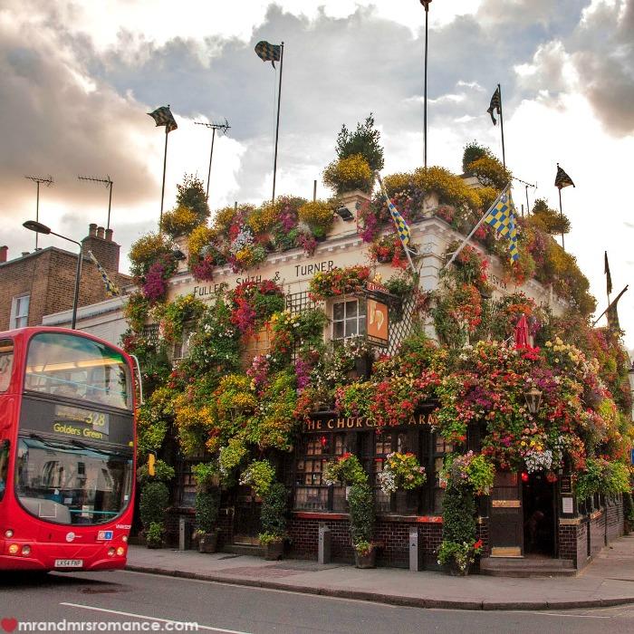 Mr & Mrs Romance - Insta Diary - 50 Churchill Arms London