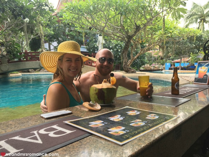 Mr & Mrs Romance - Insta Diary - 8a Thavorn swim-up bar