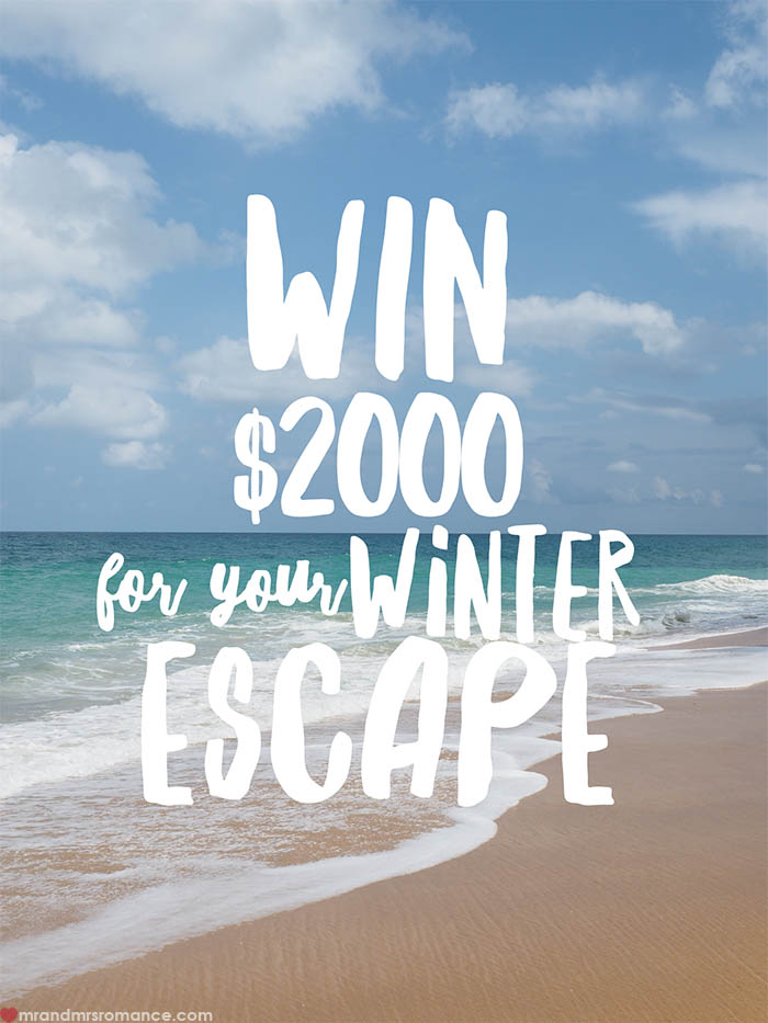 Mr and Mrs Romance - Win $2000 for your winter escape from Cheapflights