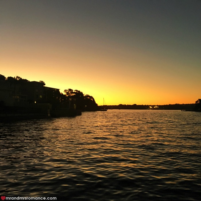 Mr & Mrs Romance - IG Edition - 4 sunset over harbour