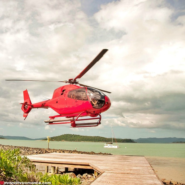 Mr & Mrs Romance - IG Edition - 54 helicopter over Whitsundays
