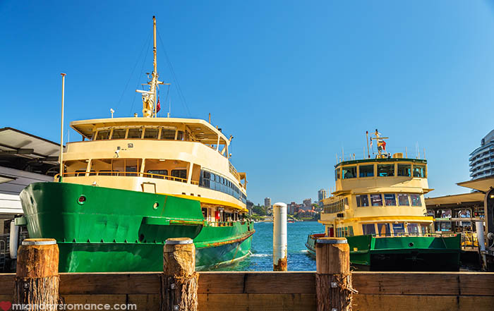 Mr and Mrs Romance - Things to do in Sydney - Catch a Sydney Ferry