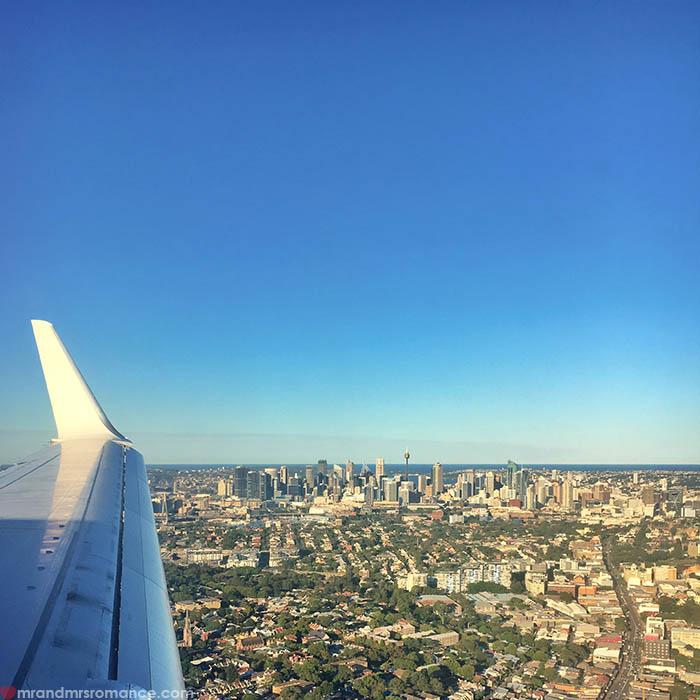 Mr & Mrs Romance - IG Edition - 18 Sydney plane window