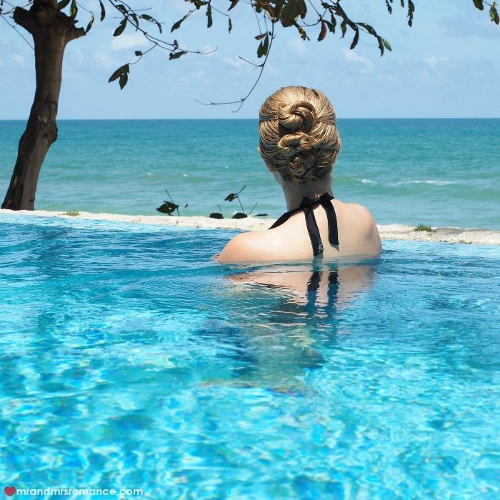 Mr & Mrs Romance - IG Edition - 53 Aleenta Phuket pool and hair