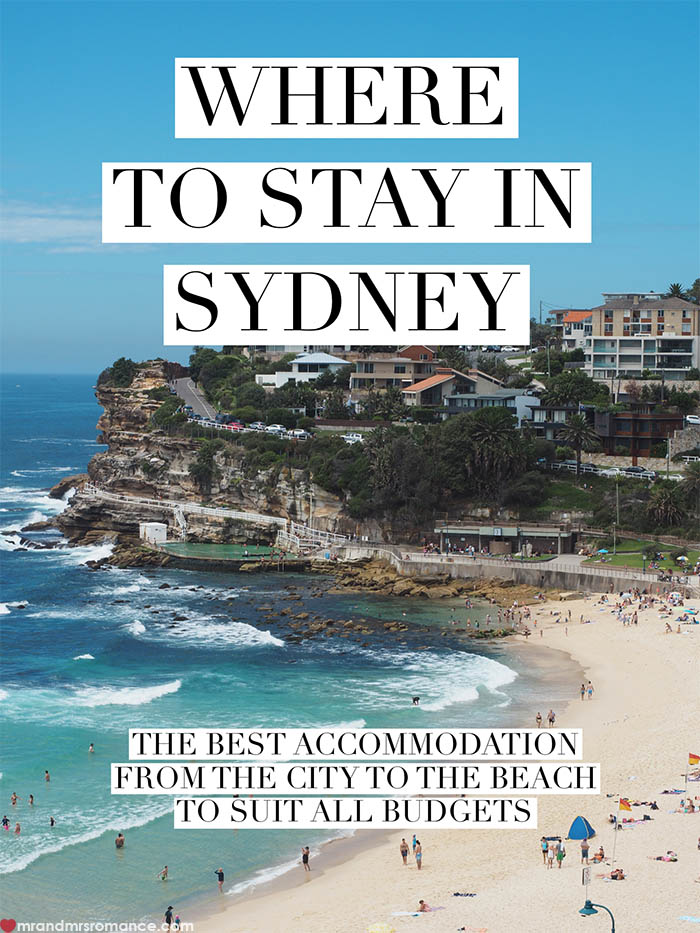 Mr and Mrs Romance - Where should you stay in Sydney - the best hotels for all budgets