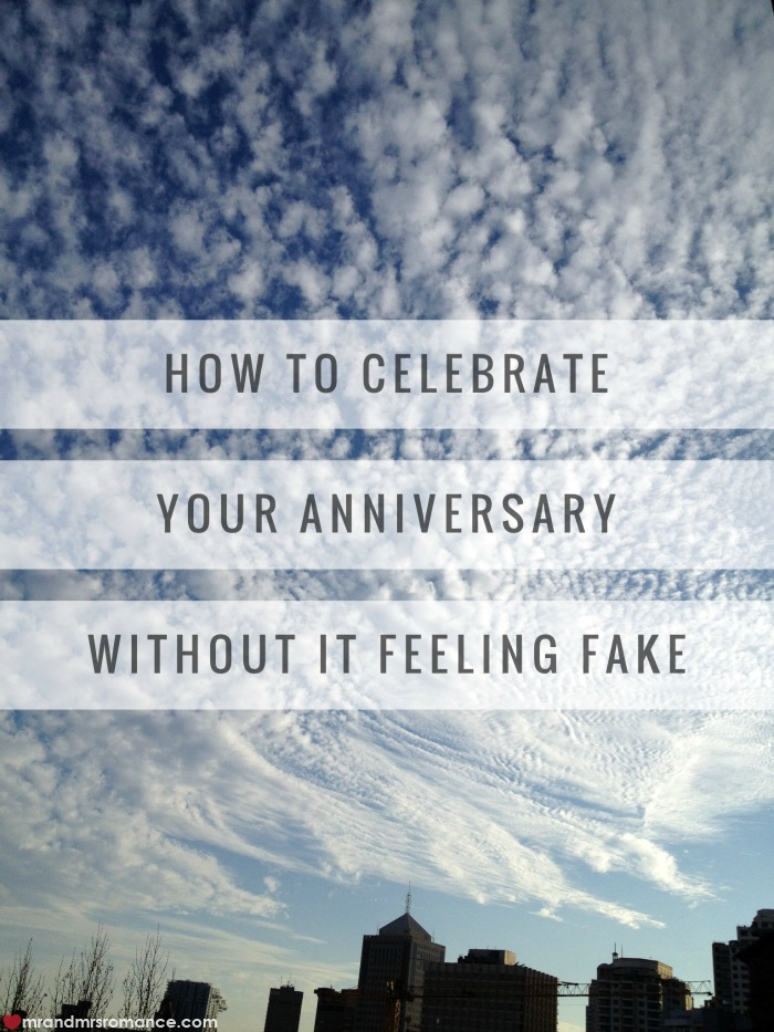Mr & Mrs Romance - celebrate your anniversary without it feeling fake