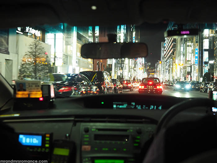 Mr and Mrs Romance - how to drive in Japan - Tokyo traffic