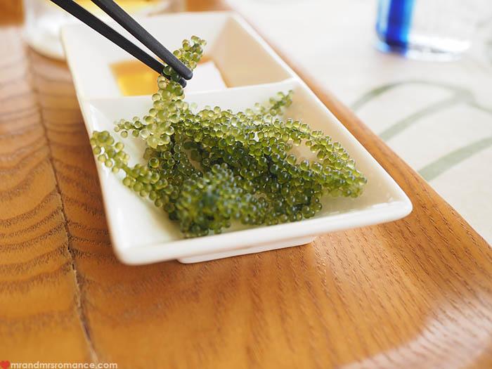 Mr & Mrs Romance - unusual things Okinawa - 10 sea grapes