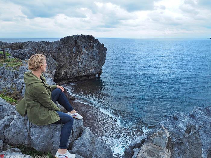 Mr & Mrs Romance - unusual things Okinawa - 2 Mrs R & coast