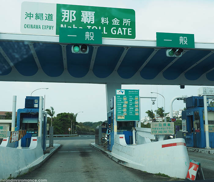 Mr and Mrs Romance - how to drive in Japan - expressway tollbooth