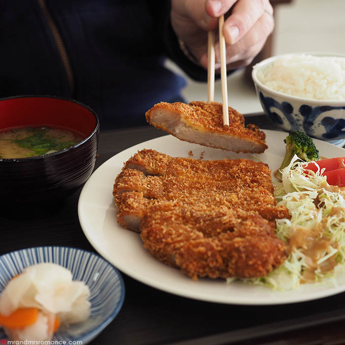 Mr and Mrs Romance - what to eat in Okinawa - agu wild boar katsudon