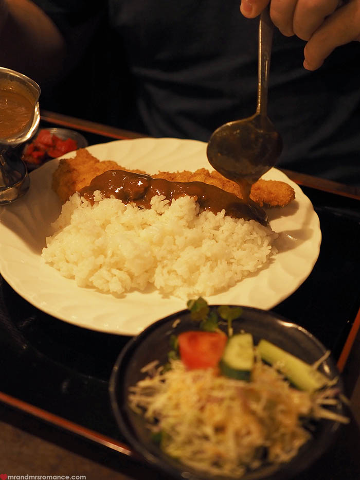 Mr and Mrs Romance - what to eat in Okinawa - agu katsu curry