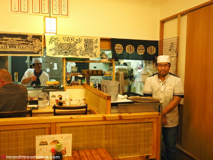 Mr & Mrs Romance - where locals eat in Okinawa - restaurant