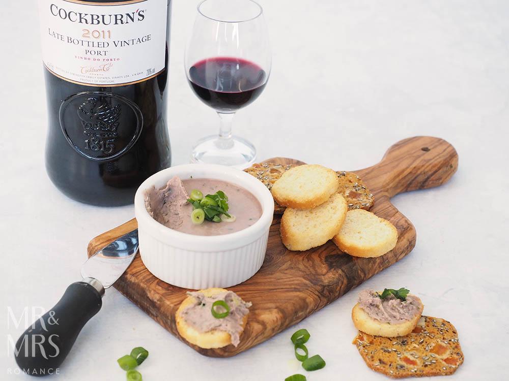 Mr & Mrs Romance - easy vegetarian pâté recipe with Cockburn's Port