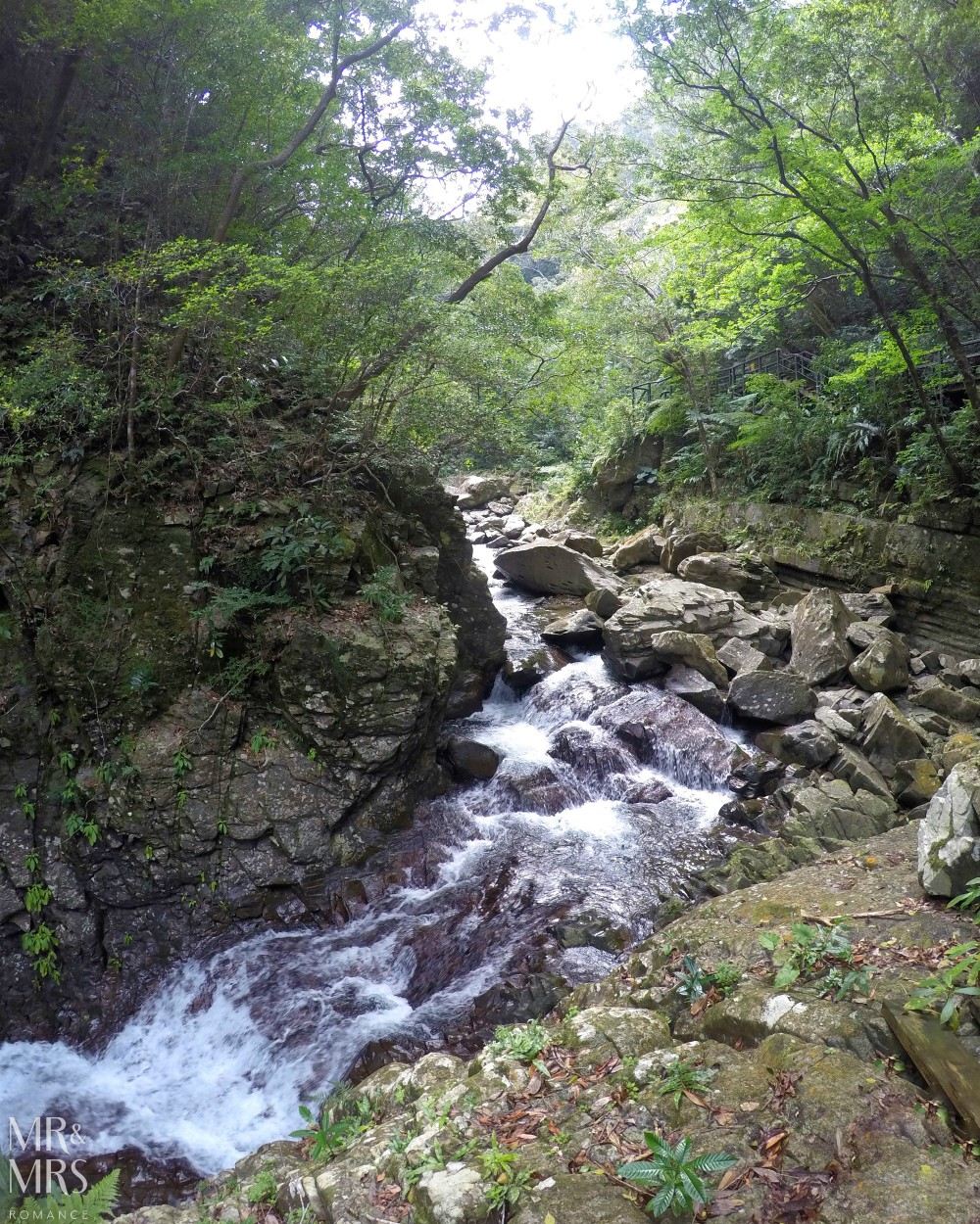 Power Spots, Okinawa, Japan - Mr & Mrs Romance - Hiji Waterfall river rapids