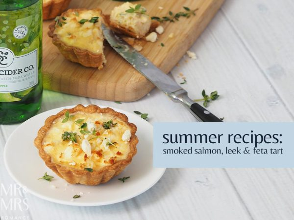 Smoked salmon leek and feta tart recipe - Mr & Mrs Romance