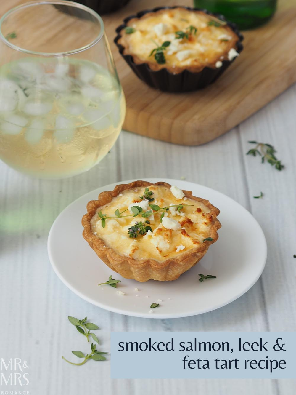 Smoked salmon leek and feta tart summer recipe - Mr & Mrs Romance