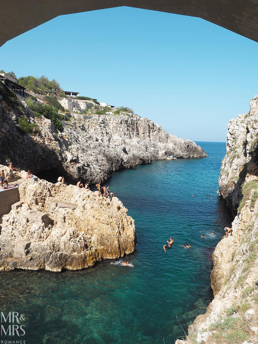 Canale del Ciolo - Cliff diving - Where to take the best photos in Puglia Italy - MMR