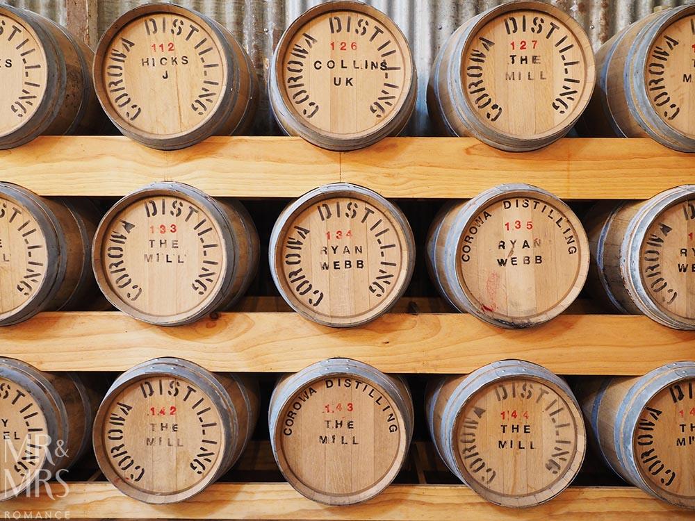 Australian whisky barrels - Corowa Distillery NSW - MMR