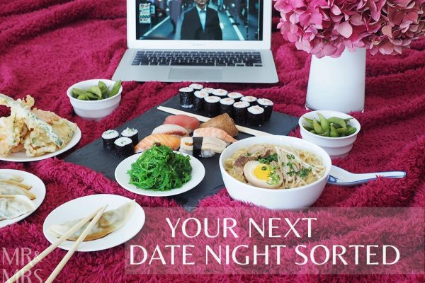 Uber Eats date night - Mr and Mrs Romance feature