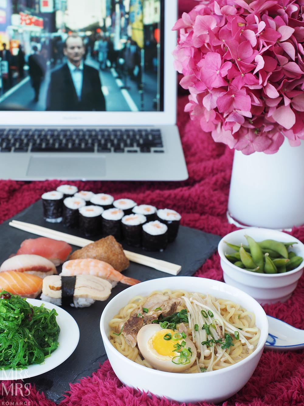 Uber Eats date night - Mr and Mrs Romance food