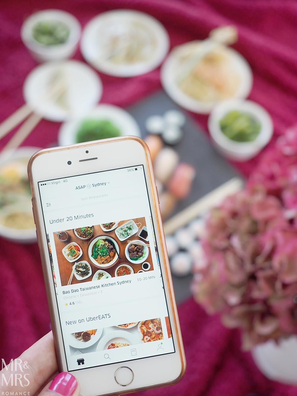 Uber Eats date night - Mr and Mrs Romance app
