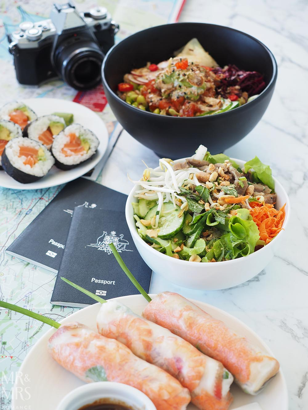 Uber Eats fresh Asian food - how to fight post-holiday blues - MMR