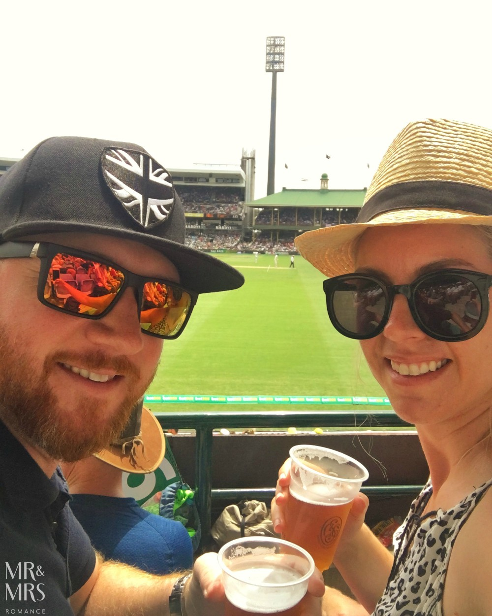 SCG Ashes cricket - Mr and Mrs Romance