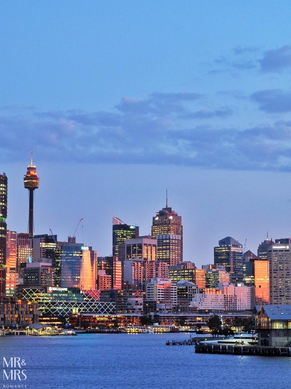 Sydney skyline - Mr and Mrs Romance