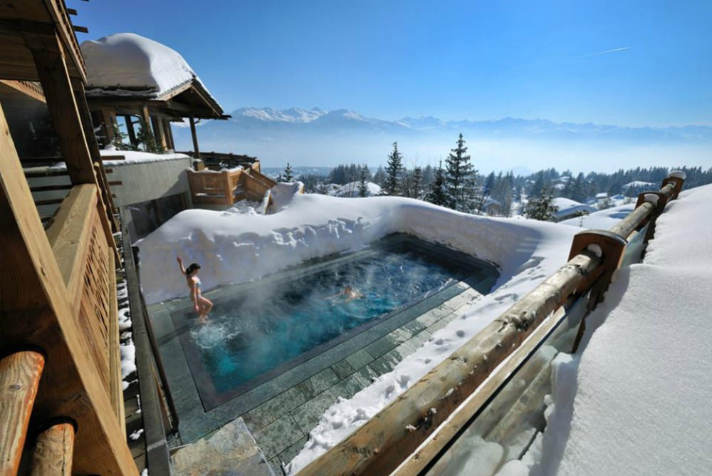 Bucket list hotel pools - LeCrans, Switzerland