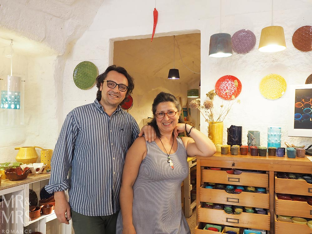 Italian art in Monopoli, Puglia - the artists at Giu in Lab