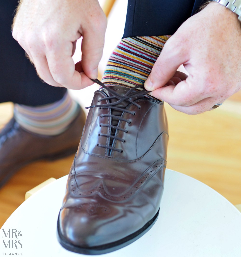 Valentine's Day gifts men's style - Paul Smith socks Church's shoes - MMR