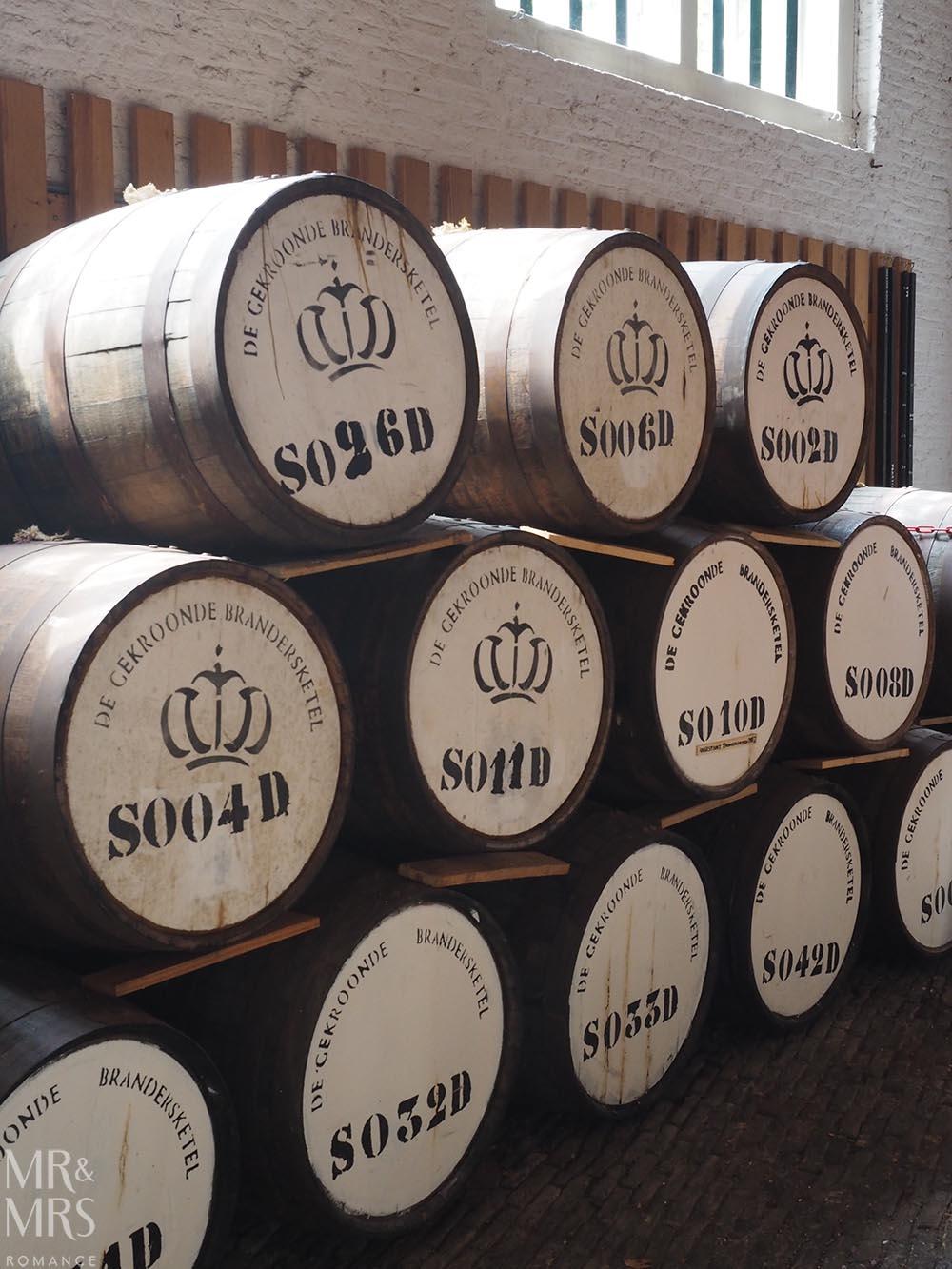 birthplace of gin Schiedam Genever Museum barrels