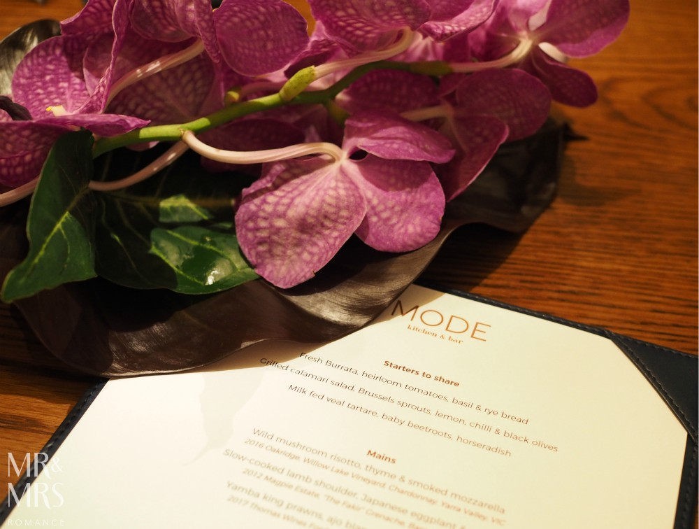 Mode at Four Seasons Sydney autumn menu 2018
