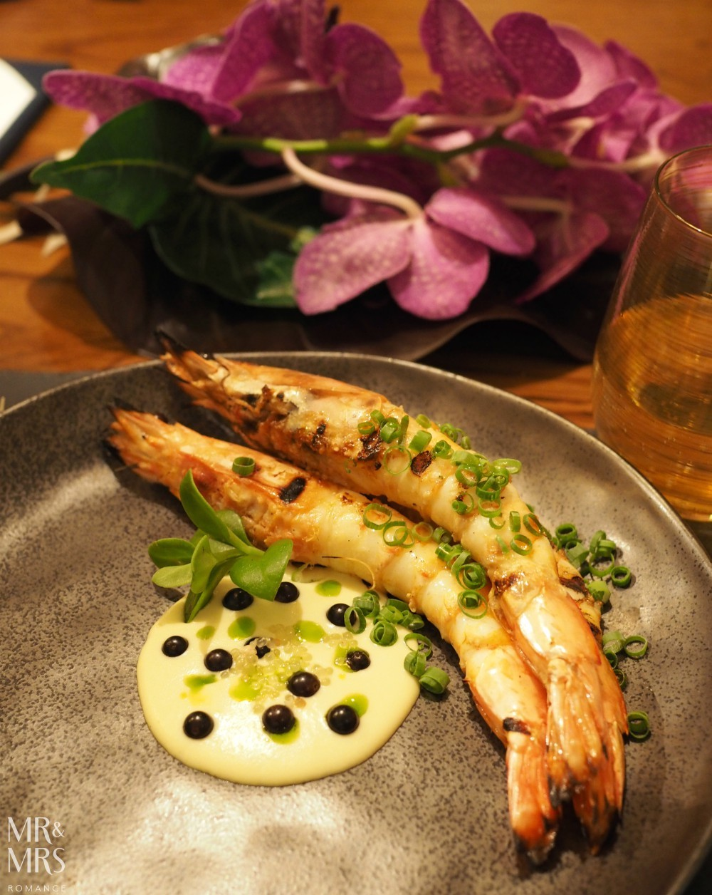 Mode at Four Seasons Sydney autumn menu 2018 - Yamba prawns