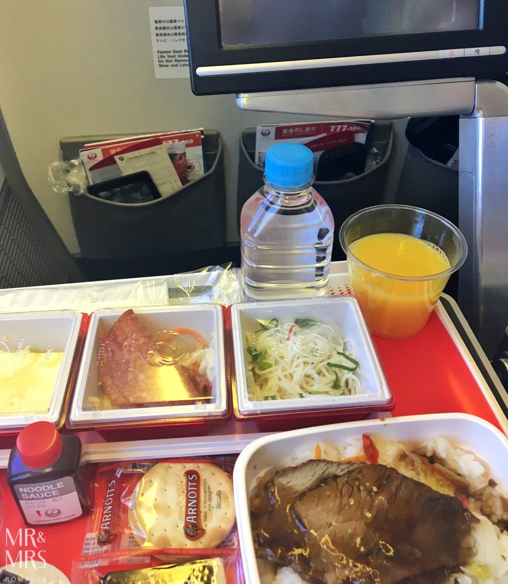 Long-haul flight tips - Mr and Mrs Romance - plane food