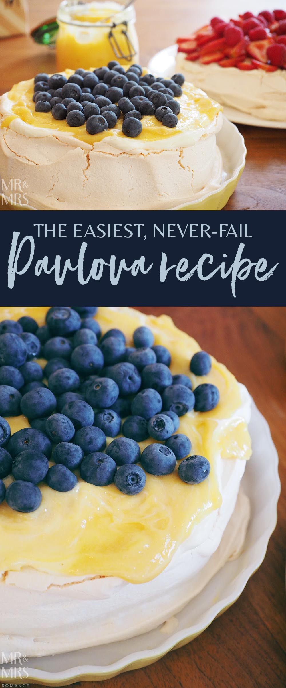 Never-fail easy pavlova recipe - Mr & Mrs Romance