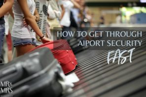 How we get through airport security as quickly as possible