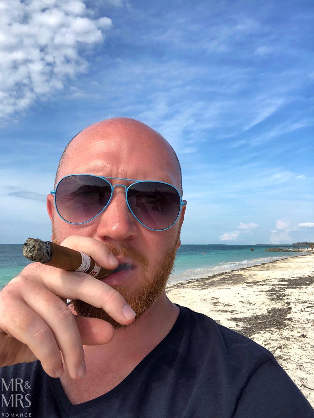 Cayo Levisa, Cuba - cigar on beach